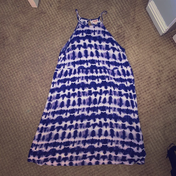 Mossimo Supply Co. Dresses & Skirts - Medium Mossimo Supply Co. Blue and White Dress
